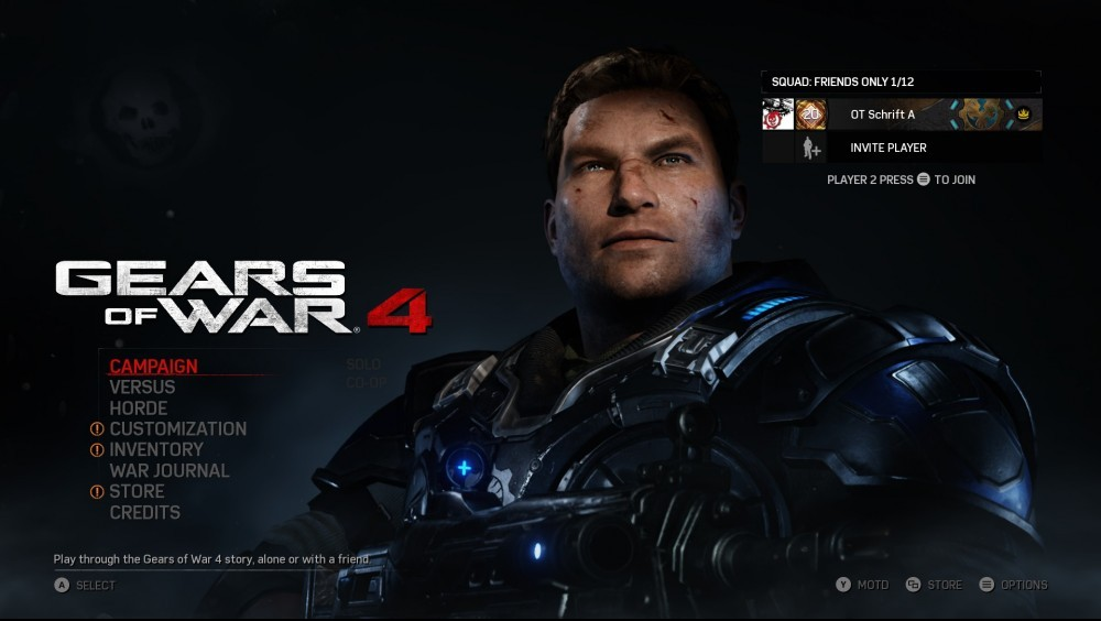 Gears Of War 4 Main Menu