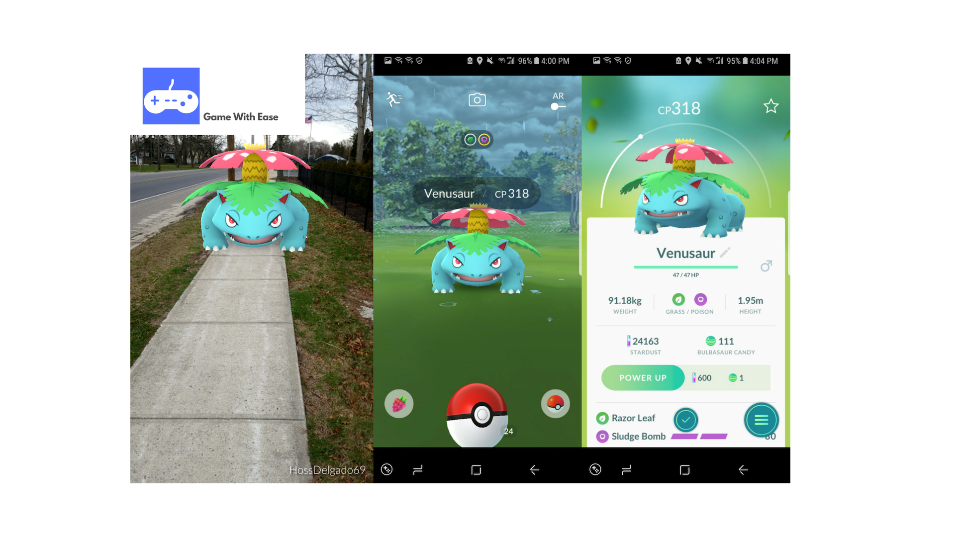 pokemon go wild venusaur encounter