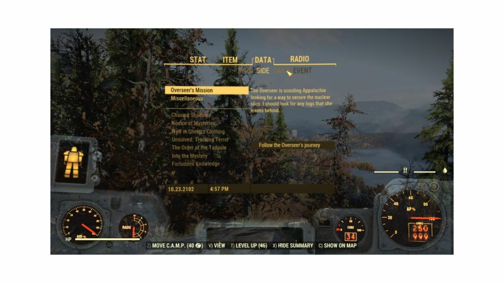 fallout 76 pip-boy data tab side