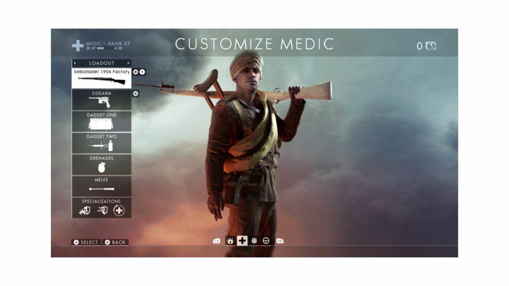 battlefield 1 medic class