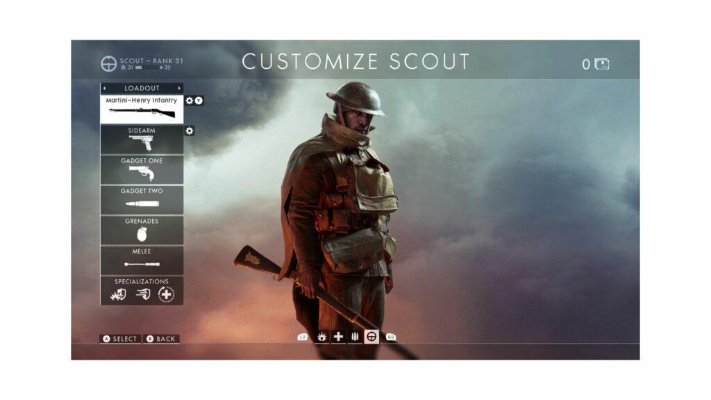 battlefield 1 scout class