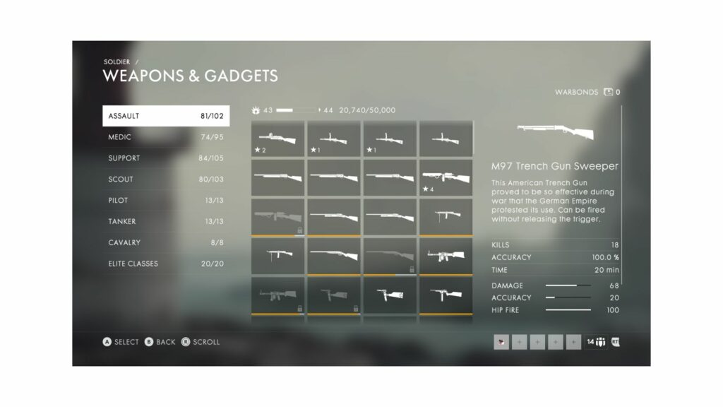 battlefield 1 weapons and gadgets